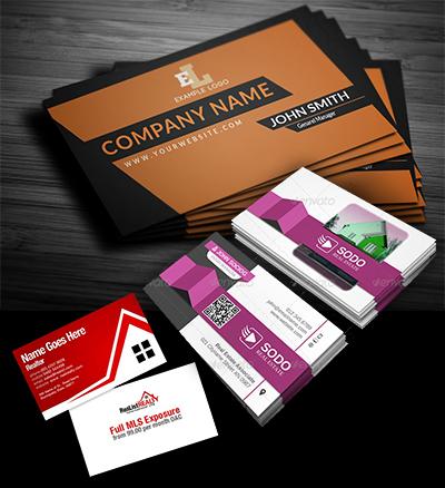 real estate design sample for business cards