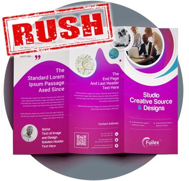 *** RUSH Brochure Printing